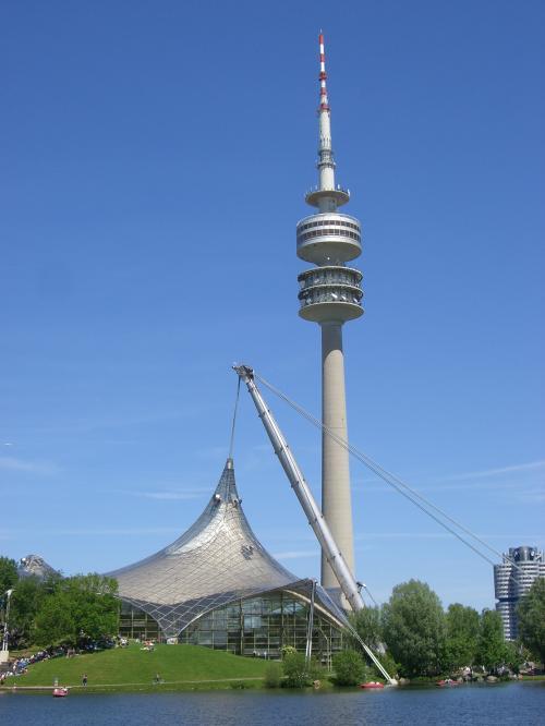 Телебашня в Олимпийском парке в Мюнхене