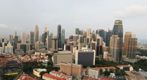 Вид на район небоскребов