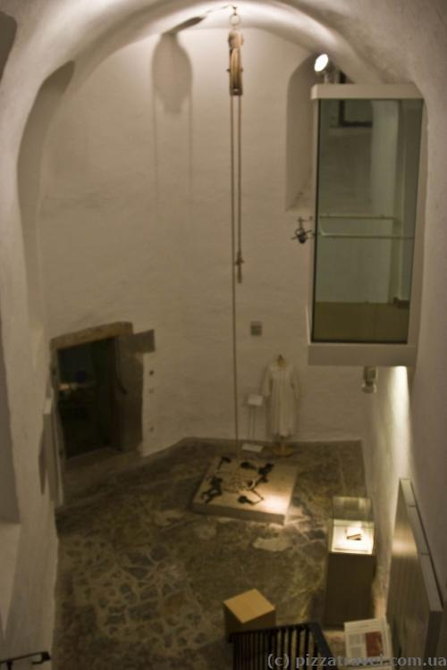Here witches were tortured, the balcony on the right was used by the judge.