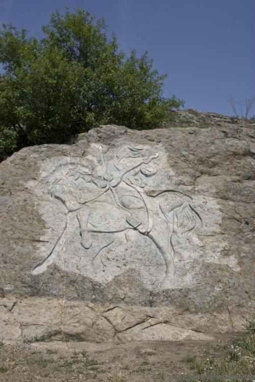Скульптура казака в Южноукраинске
