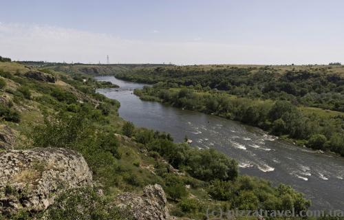 View of the Pivdennyi Bug near Yuzhnoukrainsk
