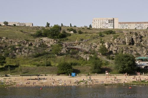 City beach in Yuzhnoukrainsk